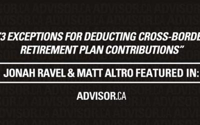 Advisor's Edge – 3 exceptions for deducting cross-border retirement plan contributions